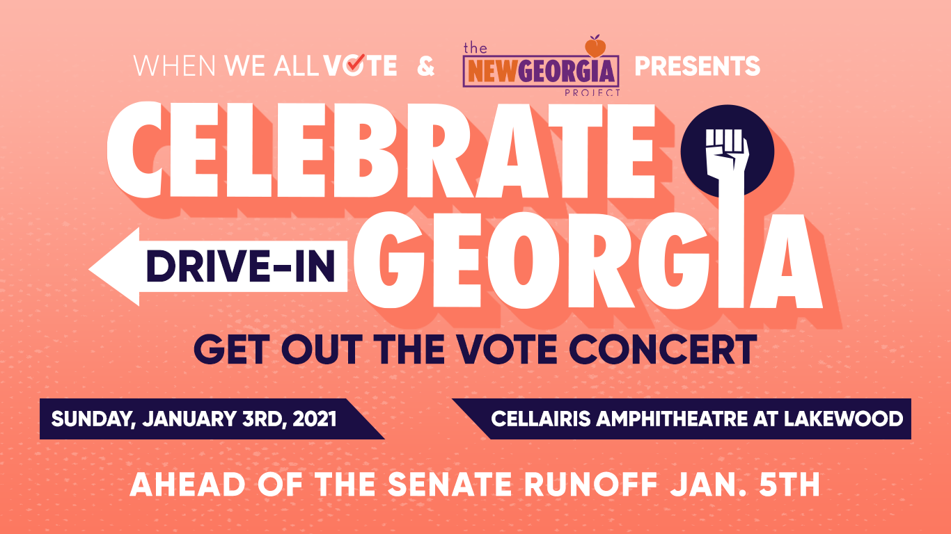 "Michelle Obama's When We All Vote Teams Up with New Georgia Project, Live Nation Urban and More to Host Drive-In GOTV Concert ""Celebrate Georgia!"""