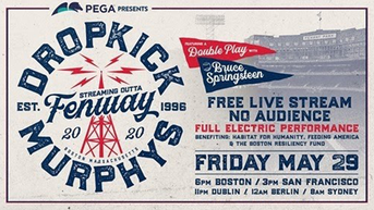 Dropkick Murphys, Bruce Springsteen to Play for Empty Fenway Park Tonight