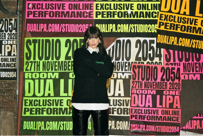 "DUA LIPA INVITES YOU TO ""STUDIO 2054"""