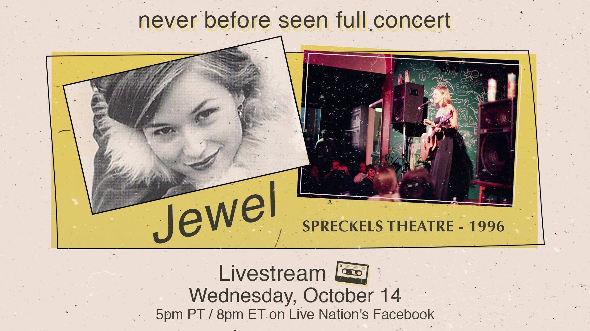 JEWEL ANNOUNCES LIVE STREAM OF 1996 NEVER-BEFORE-SEEN FULL CONCERT