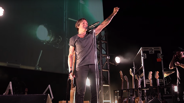 Keith Urban Thanks Nashville's Front-Line Workers with a Special Drive-In Concert