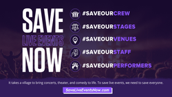 #SaveLiveEventsNow Launches Campaign to Advocate For Live Events Industry